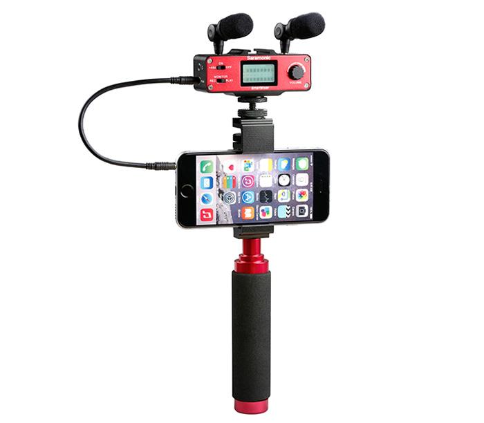 Микшер Saramonic SmartMixer со стереомикрофоном и держателем смартфона фото