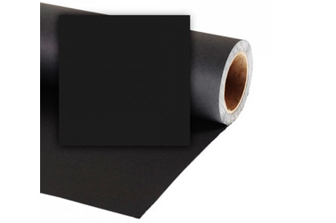 Фон Colorama Black, бумажный,  2.72x11м, черный