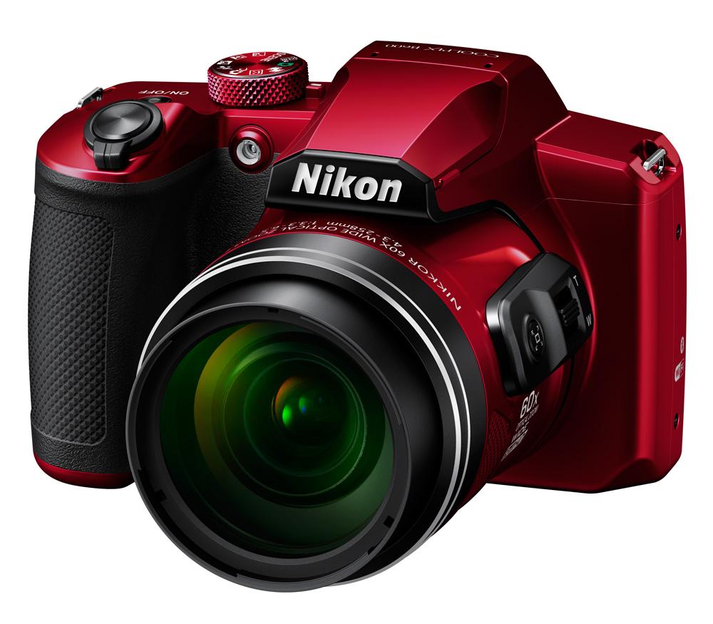 Компактный фотоаппарат Nikon Coolpix B600, красный фото