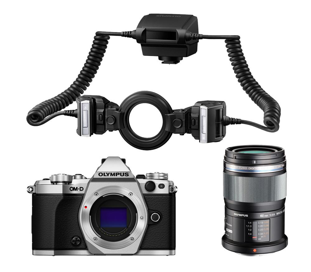 Системный фотоаппарат OLYMPUS OM-D E-M5 II Dental kit (макро), серебристый фото