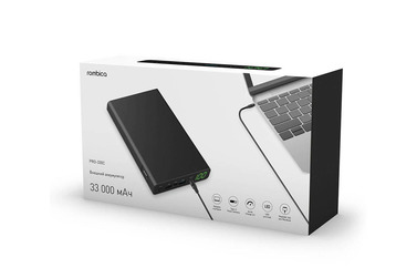 Аккумулятор Rombica NEO PRO-330C, 33000 мАч, USB PD, QC 3.0, DC Out