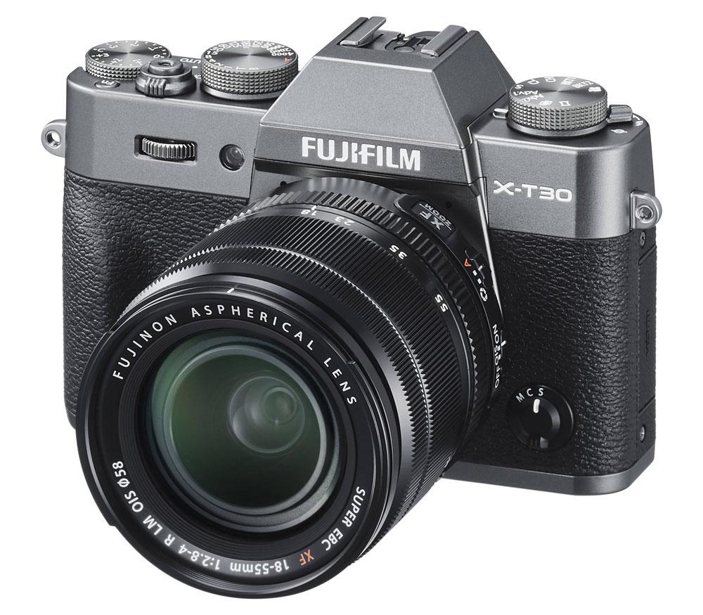 Беззеркальный фотоаппарат Fujifilm X-T30 Kit 18-55mm, темно-серый фото