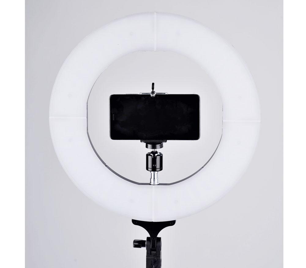 Осветитель кольцевой FST LED 12-RL II, светодиодный, 3200-5500К, 42 Вт фото