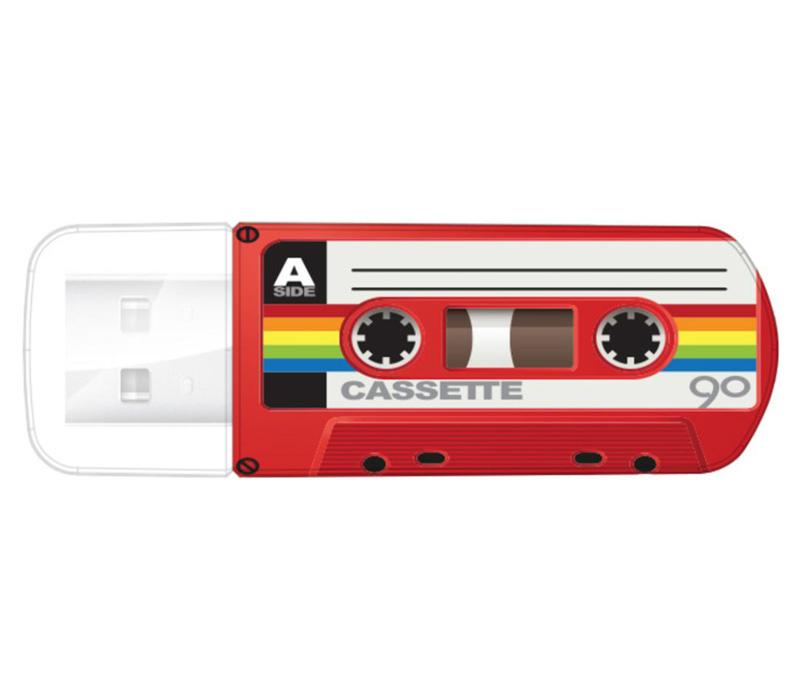 Накопитель VERBATIM USB2 Flash 32GB Mini Cassette Edition, красный фото
