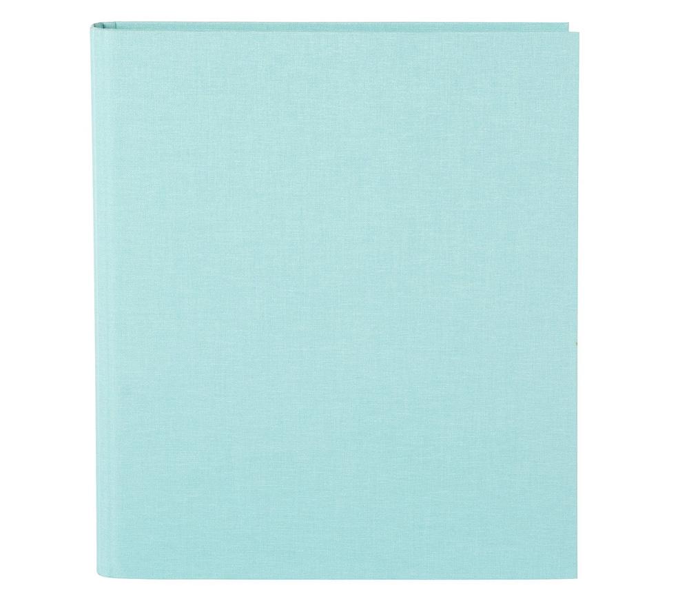 Папка Goldbuch Bella Vista, 4 кольца, без листов, лён, голубая фото