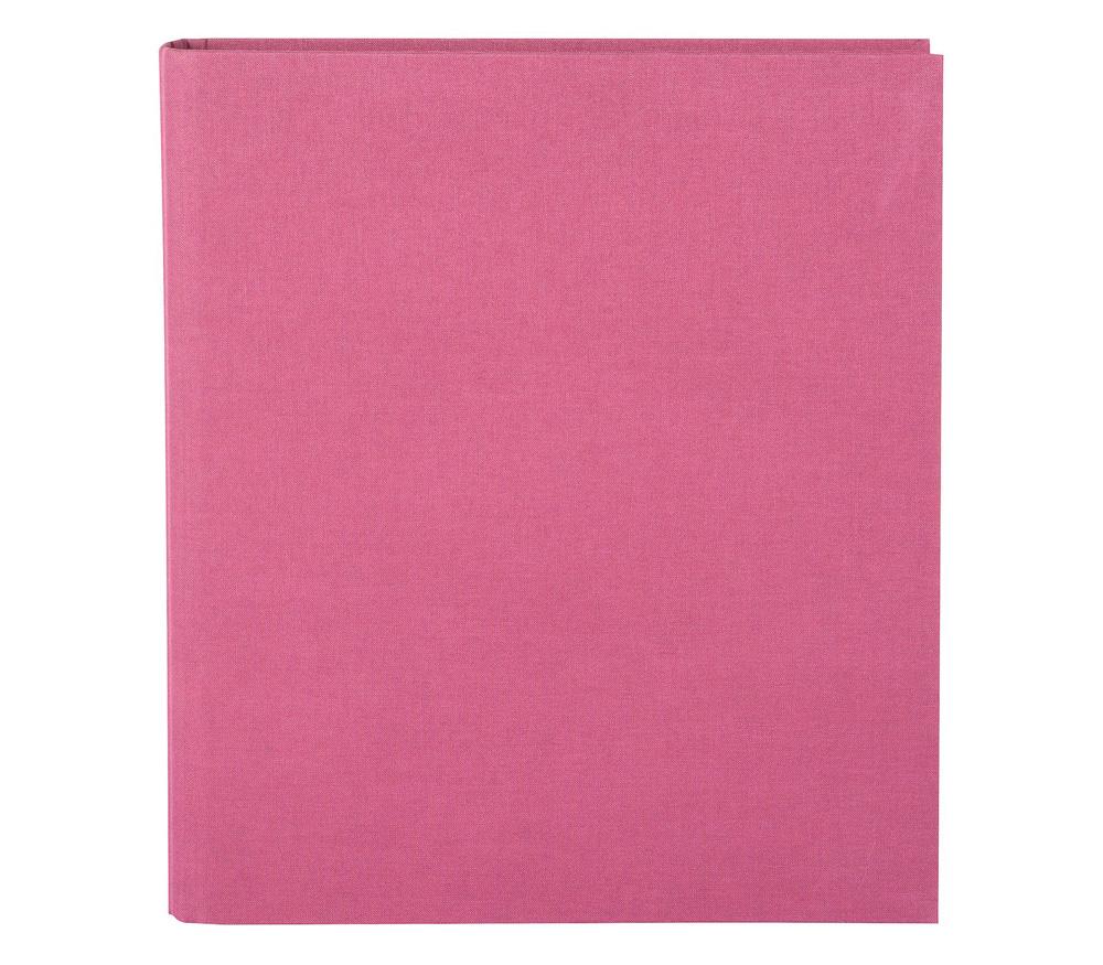 Папка Goldbuch Bella Vista, 4 кольца, без листов, лён, розовая фото