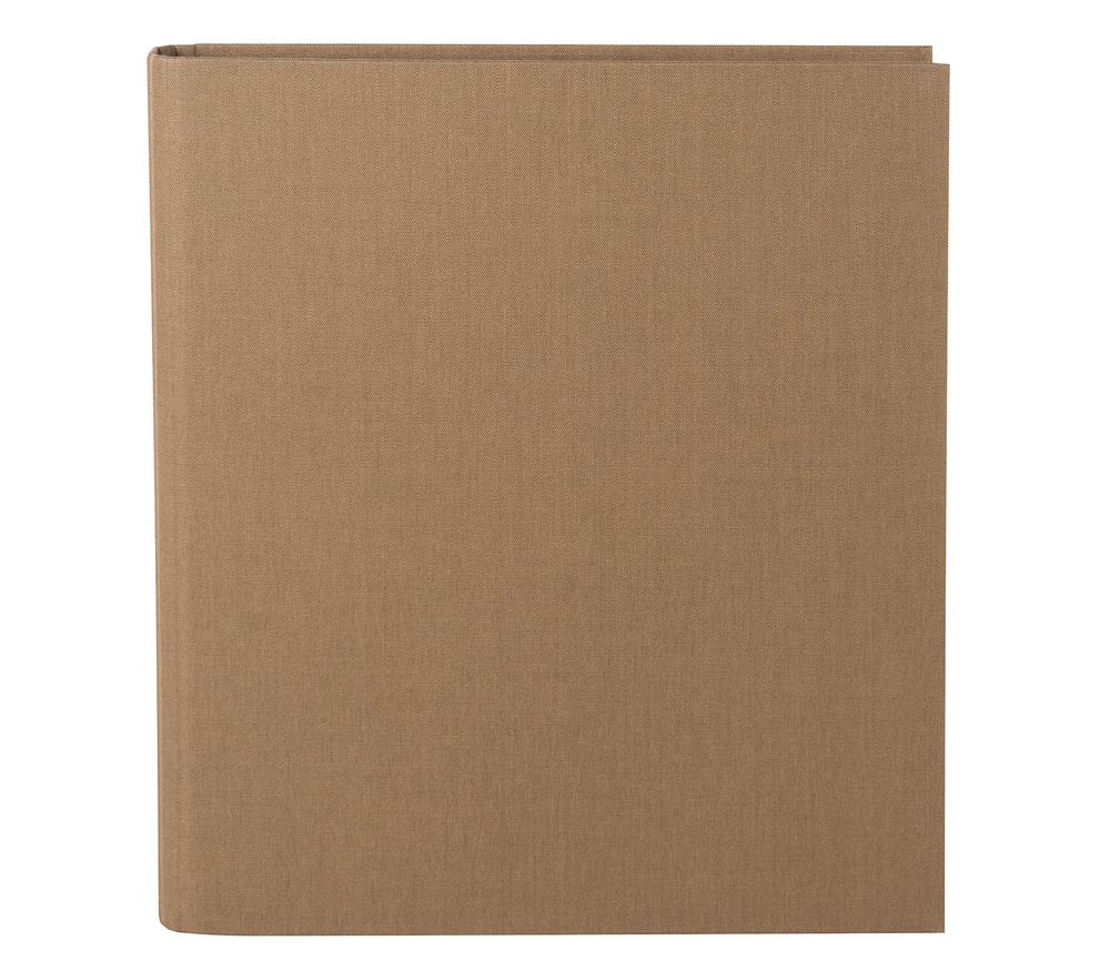 Папка Goldbuch Bella Vista, 4 кольца, без листов, лён, коричневая фото