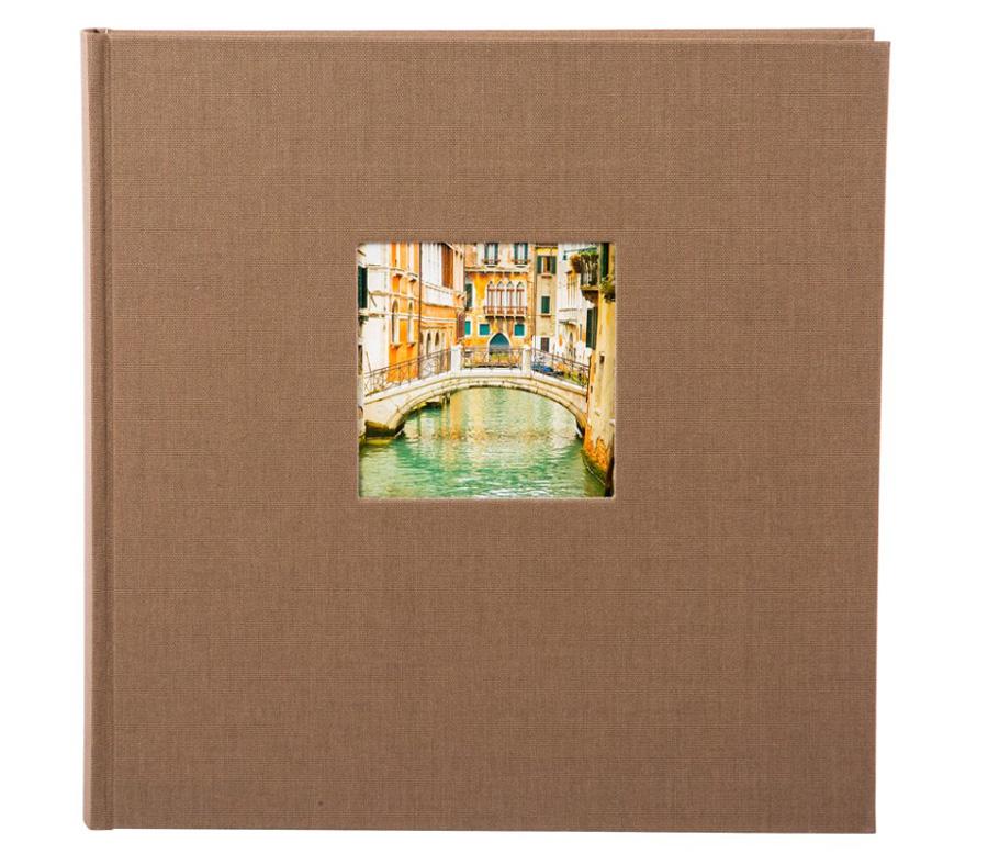 Фотоальбом Goldbuch 30х31 см, 60 страниц, Bella Vista, черные листы, коричневый фото