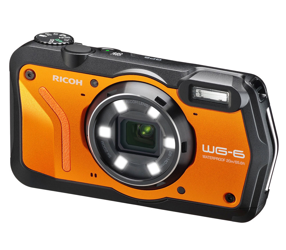 Компактный фотоаппарат Ricoh WG-6 GPS, оранжевый фото