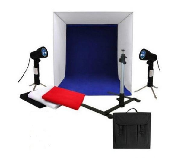 Комплект постоянного света FST Macro Kit, 2х50 Вт + фотобокс фото