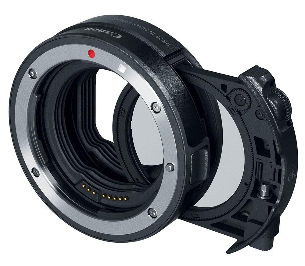 Адаптер Canon EF-EOS R Drop-In Filter Mount + C-PL фильтр фото