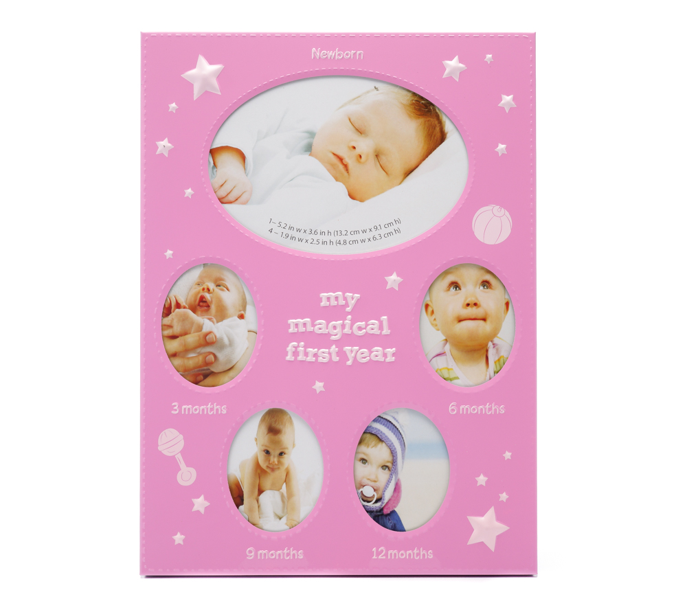 Фоторамка Fotografia для 5 фото 1/9х13+4/5х6 см, детская, розовая FFM-531/5 фото