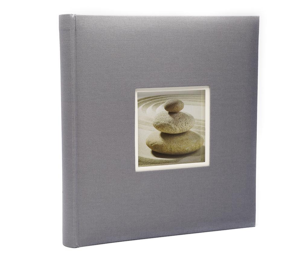 Фотоальбом Fotografia 10x15 см 400 фото, «Классика» с окошком, серый фото