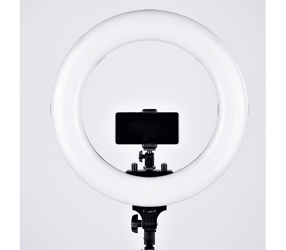 Осветитель FST RL-48BL светодиодный кольцевой, 48 Вт, 3200-5600К фото