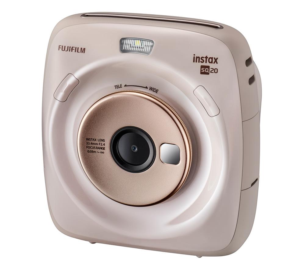 Фотоаппарат моментальной печати Fujifilm Instax SQUARE SQ20, бежевый уцененный