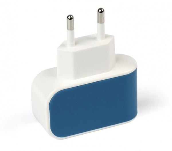 Зарядное устройство Smartbuy Color Charge, 1хUSB, 1А, синее (SBP-8010) фото