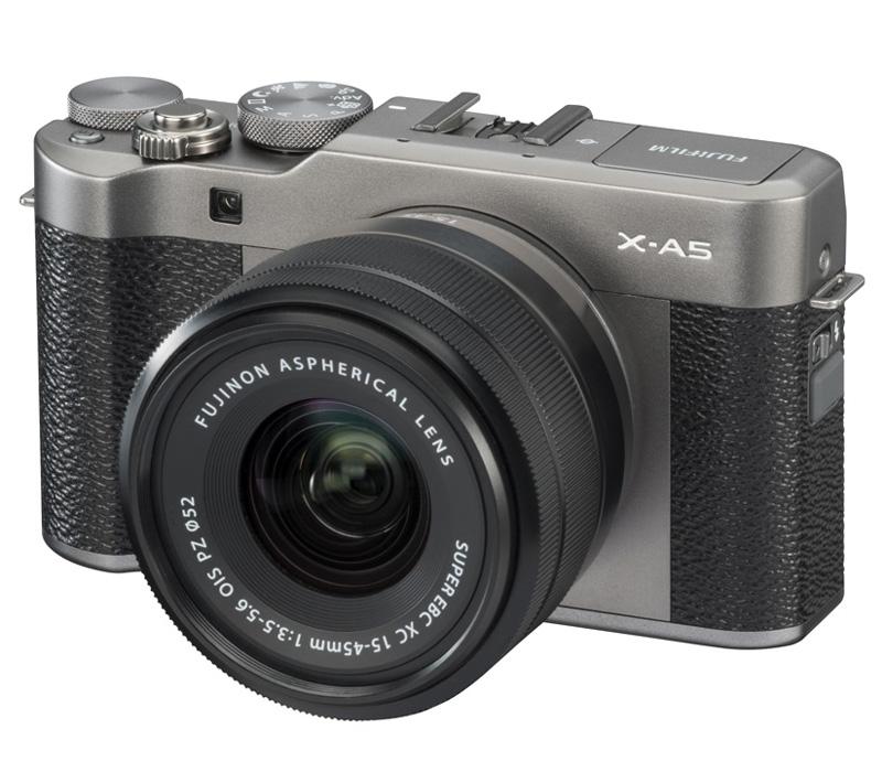 Беззеркальный фотоаппарат Fujifilm X-A5 kit 15-45mm OIS PZ, серый фото