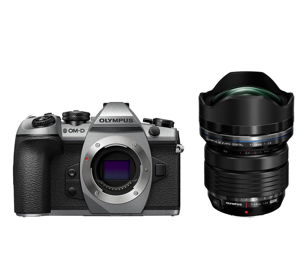Системный фотоаппарат OLYMPUS OM-D E-M1 Mark II kit ED 7-14mm f/2.8 PRO, серебристый фото