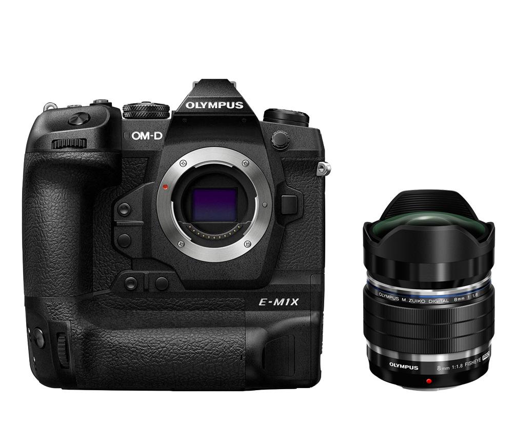 Системный фотоаппарат OLYMPUS OM-D E-M1X Body + ED 8mm f/1.8 PRO фото