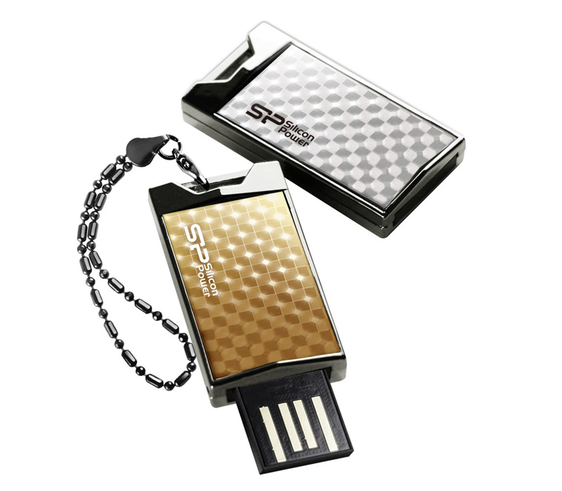 Накопитель Silicon Power USB2 Flash 4GB  Touch 851 Gold