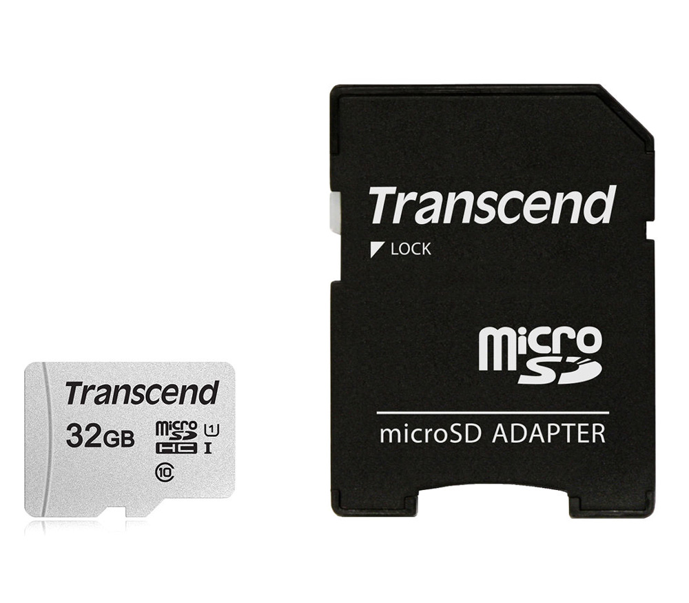 Карта памяти Transcend MicroSDHC 32GB UHS-I U1, 95 / 45 Мб/с, с адаптером фото