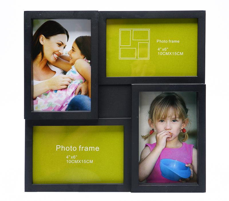 Мультирамка Fotografia FFC-2052 на 4 фото 10х15 см, черная