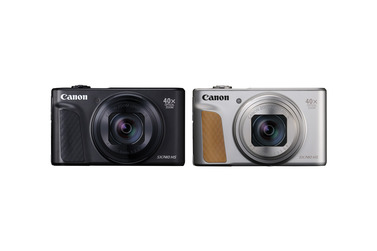 Small canon powershot sx740 hs black and silver pre