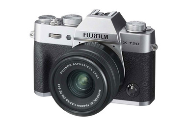Small fujifilm x t20 with xc 15 45mm lens silver 1
