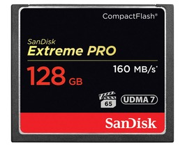 Small compactflash 128gb sandisk extreme pro 160
