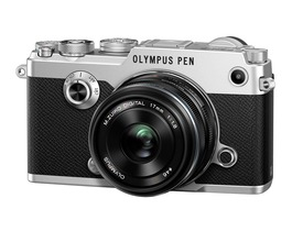 Small olympus pen f kit 17mm  silver fsl