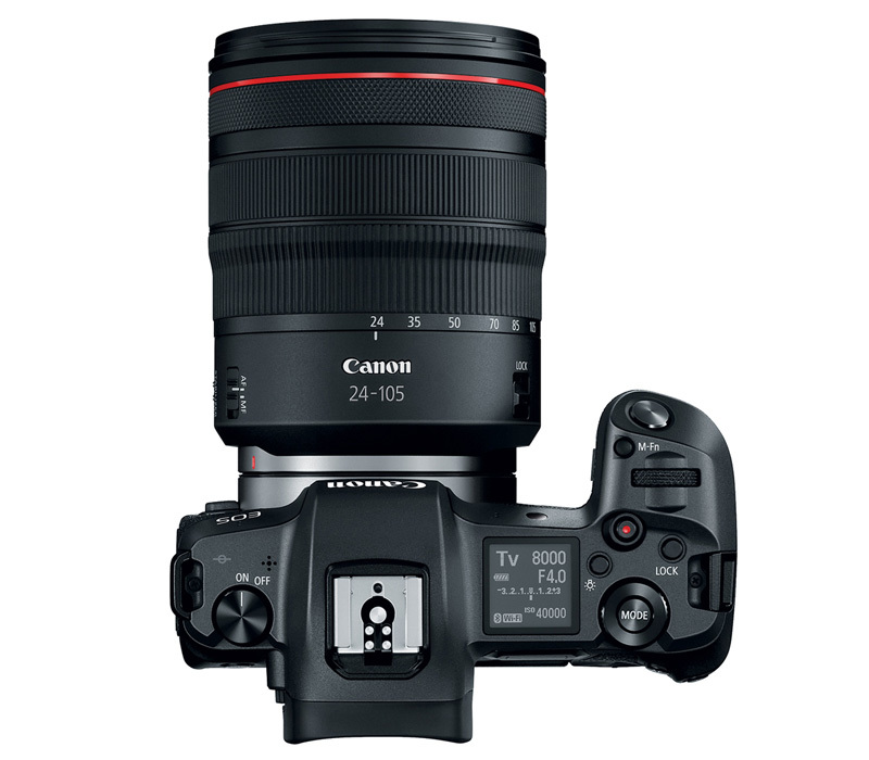 Canon EOS R 24-105 Kit top