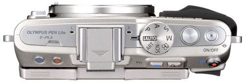 Olympus Pen E-PL5 silver top view