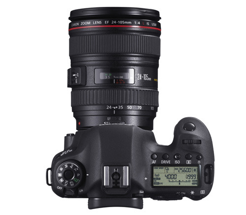 Canon EOS 6D 24-105 kit top view