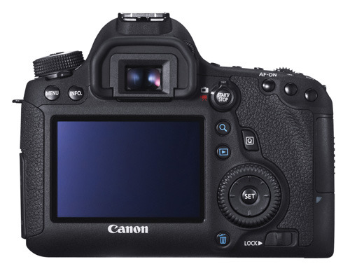 Canon EOS 6D back view