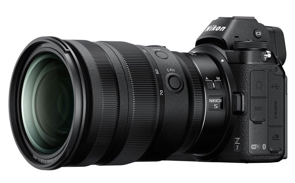 Nikon 24-70mm f/2.8 S на камере Nikon Z7