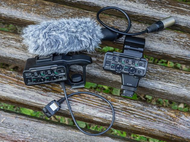 Профессиональный комплект Sony XLR-K1M (слева) и Sony XLR-K2M (справа).