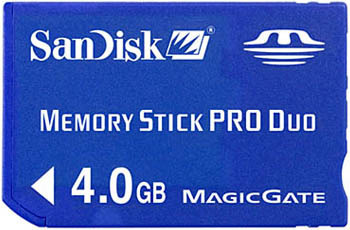 Memory Stick Duo PRO 4GB SanDisk