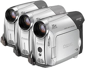 Цифровые видеокамеры CANON MD111, MD120 и MD160