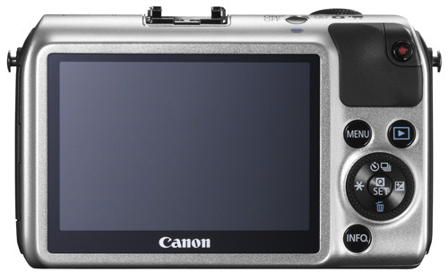 Canon EOS M silver back view
