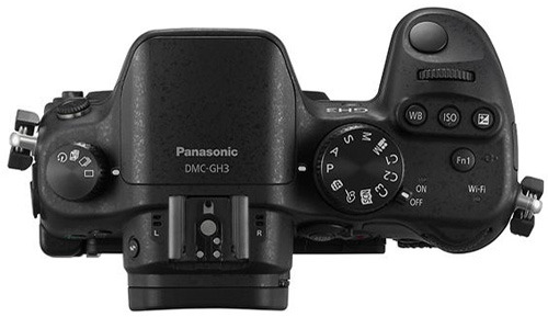 Panasonic Lumix DMC-GH3 body вид сверху