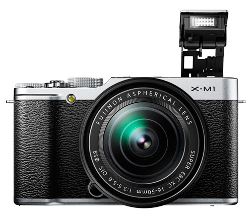 Fujifilm X-M1 kit silver flash