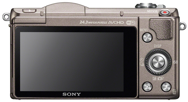 Sony Alpha a5100 bronze back
