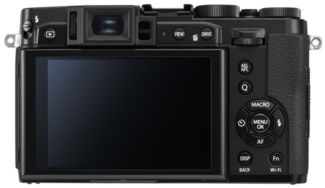 Fujifilm X30 black back