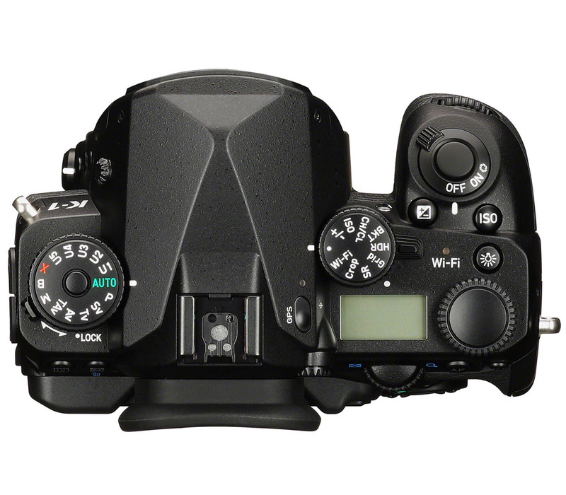 Pentax K-1 body top view