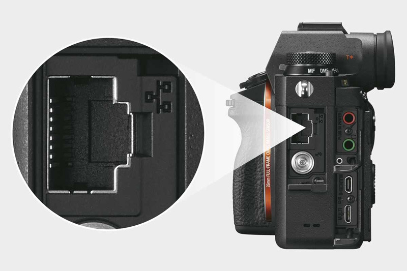 Sony a9 Ethernet порт