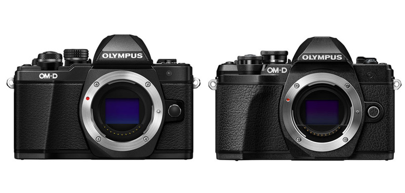 Olympus OM-D E-M10 Mark II + Olympus OM-D E-M10 Mark III front